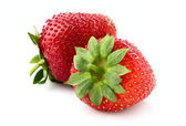 Two appetizing strawberries. — Stock Photo
