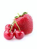 Strawberry and cherry. — Stock Photo