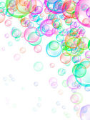 Soap Bubbles Background — Stock Photo