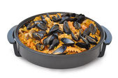 Big paella pot — Stock Photo
