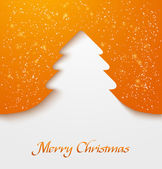 Orange christmas tree applique — Stock Vector
