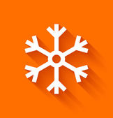 Abstract snowflake on orange background — Stock Vector