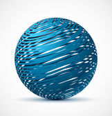 Abstract blue sphere with realistic shadow — Stock Vector