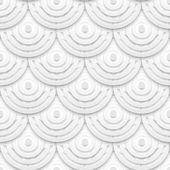 ホワイト ペーパーの円のシームレスなパターン — ストックベクタ