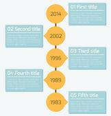 Plantilla de diseño infografía moderna línea de tiempo — Vector de stock