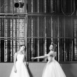 Stock Photo: Beautiful Young ballet dancers in rehearsal.
