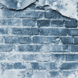 Blue background from wall of bricks — Stock Photo