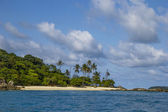 Beach on uninhabited island — Foto Stock