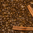 Coffee beans and cinnamon — Stock Photo #18669207