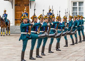 Soldiers of Kremlin regiment — Stock Photo