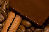 Coffee, chocolate and cinnamon. — Stock Photo