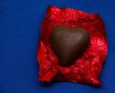 Chocolate heart — Stock Photo