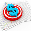 3d dollar symbol - Stock Photo