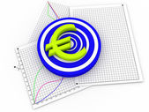 3d euro symbol — Stock Photo