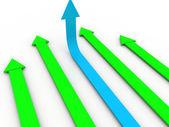 Business arrow — Stock Photo