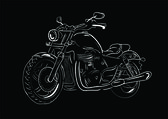 Sketch motorcycle — Stock Vector