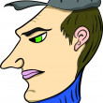 The man in a cap — Stock Vector