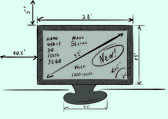 TV characteristics — Stock Vector