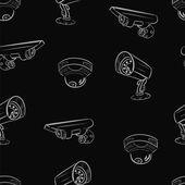 Seamless texture of the hidden cameras 2 — Stock Vector
