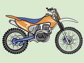 Color motorcycle — Stock Vector