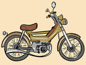 Old color moped — Stock Vector