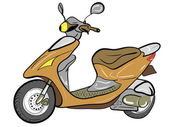 Color scooter — Stock Vector