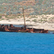 Stock Photo: Shipwreck in bay Balos,Greece