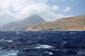 Výlet lodí na ostrov gramvoussa pirát. kréta, řecko — Stock fotografie