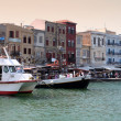 Hania city and the old Venetian port at Crete (Greece) - Stock Photo