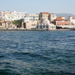 Old Venetian harbour in Chania. Crete - Stock Photo