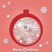 矢量雪花圣诞球 — 图库矢量图片