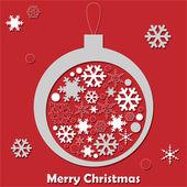 Vector christmas ball with snowflake — Stock Vector