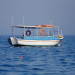 Boat in the Ionian sea Greece — Stock Photo