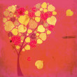 Valentine tree with hearts and leaves — Zdjęcie stockowe #21374551