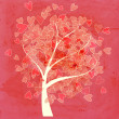 Valentine tree with hearts - Stock Photo