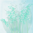 Stock Photo: Spring background with lily of valley flowers. Vector background