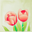 Red tulips vector — Stock Photo