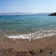 Stock Photo: Agios Nikolaos sandy beach and sea