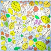 Patrón de otoño con muchos colores de hojas de otoño — Foto de Stock