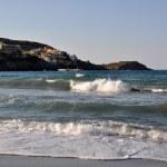 The sea, the waves on the coast of Crete. Greece — Stock Photo