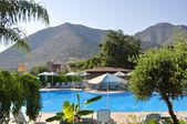 Swimming pool at hotel, Crete, Greece — Stock Photo