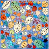 осенний узор с разноцветные осенние листья — Стоковое фото