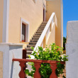 Stairway in the village of Oia on the greek island of Santorini — Stock Photo
