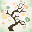 Beautiful Autumn Tree on white background — Stock Photo #35764885