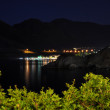 Illumination near beach hotel, night Crete, Greece  — Stock Photo