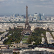 View on Eiffel Tower and panorama of Paris in autumn — Stock Photo #35765477