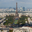 View on Eiffel Tower and panorama of Paris in autumn  — Foto de Stock