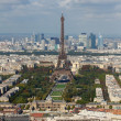 View on Eiffel Tower and panorama of Paris in autumn — Stock Photo