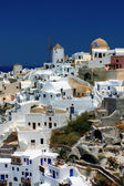 Oia village on Santorini island, Greece — Stock Photo