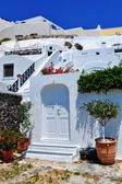 Greece Santorini island, traditional view of white washed houses — Stock Photo